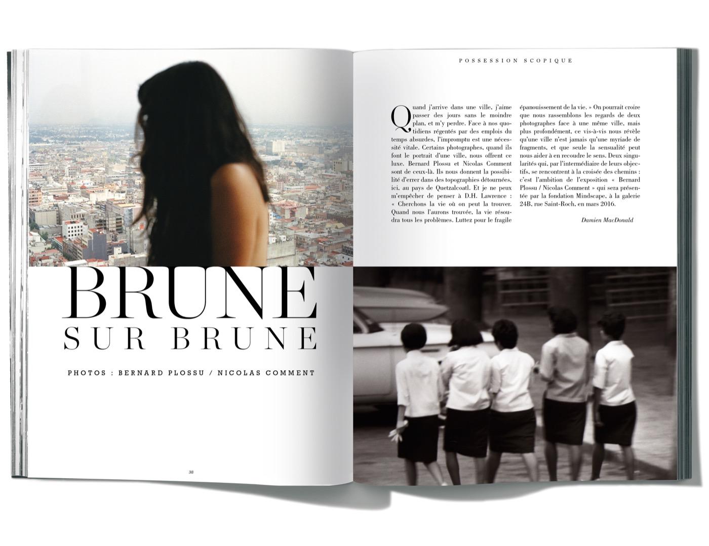 Photographies de Bernard Plossu et Nicolas Comment, Brune sur brune