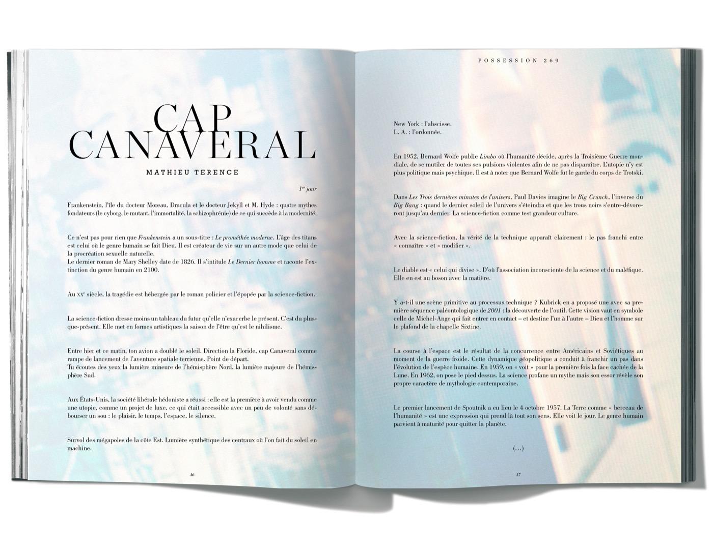 Texte de Mathieu Terence, Cap Canaveral