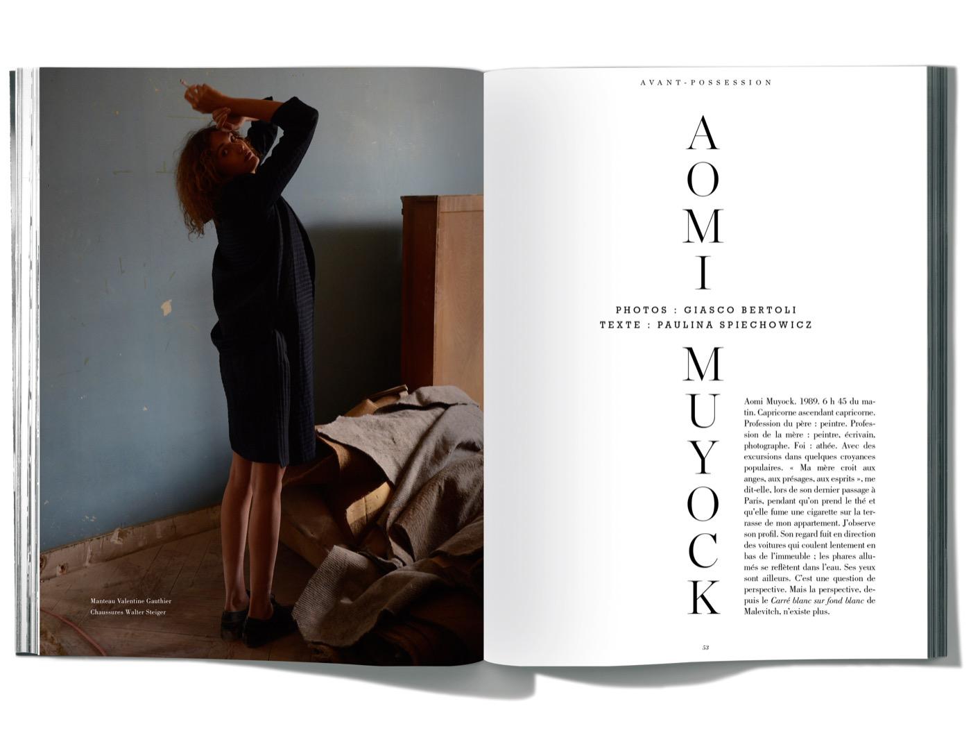 Texte de Paulina Spiechowicz & photographies de Giasco Bertoli, Aomi Muyock
