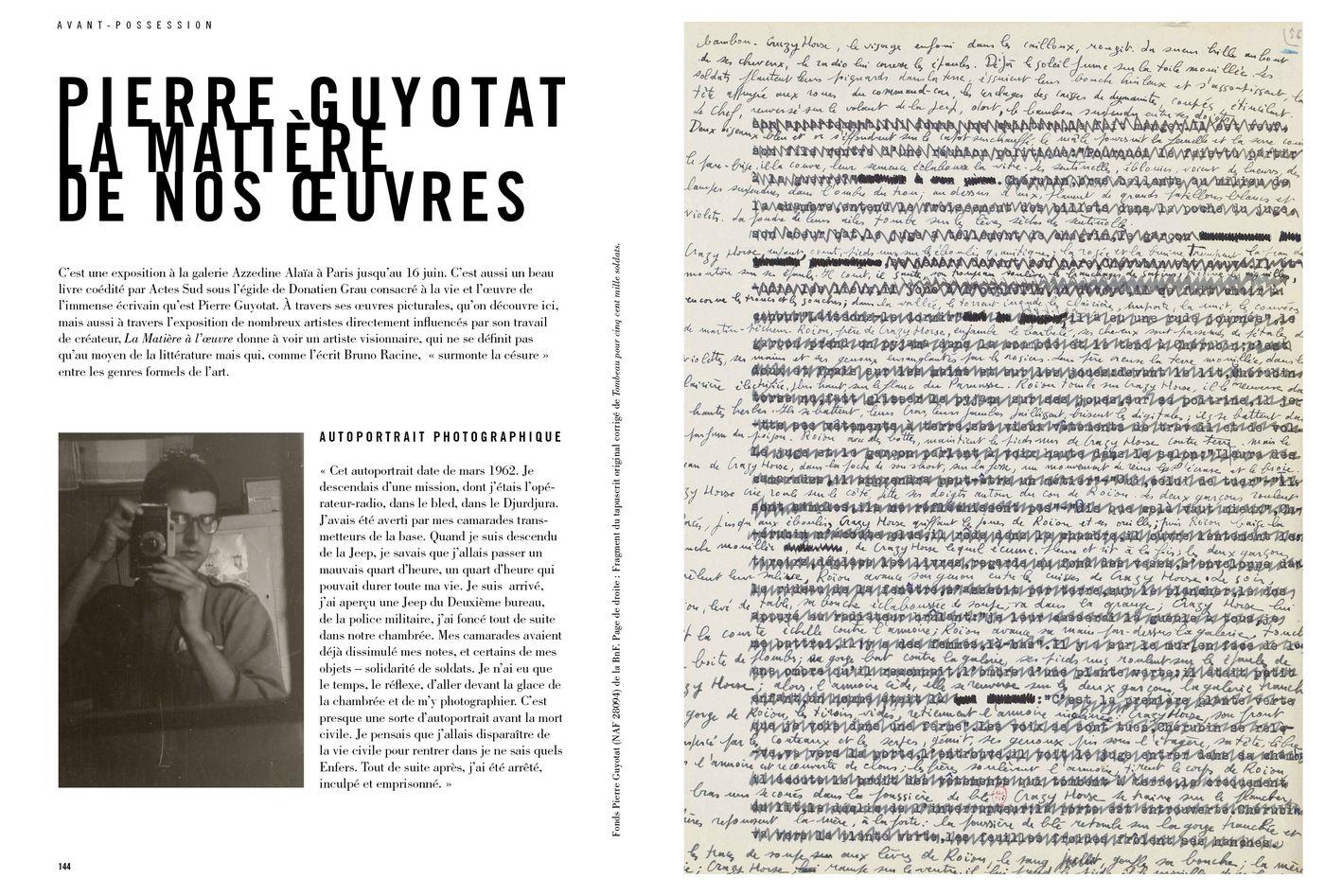 Possession Immédiate Volume 5 - Livre sur Pierre Guyotat, La Matière de nos œuvres