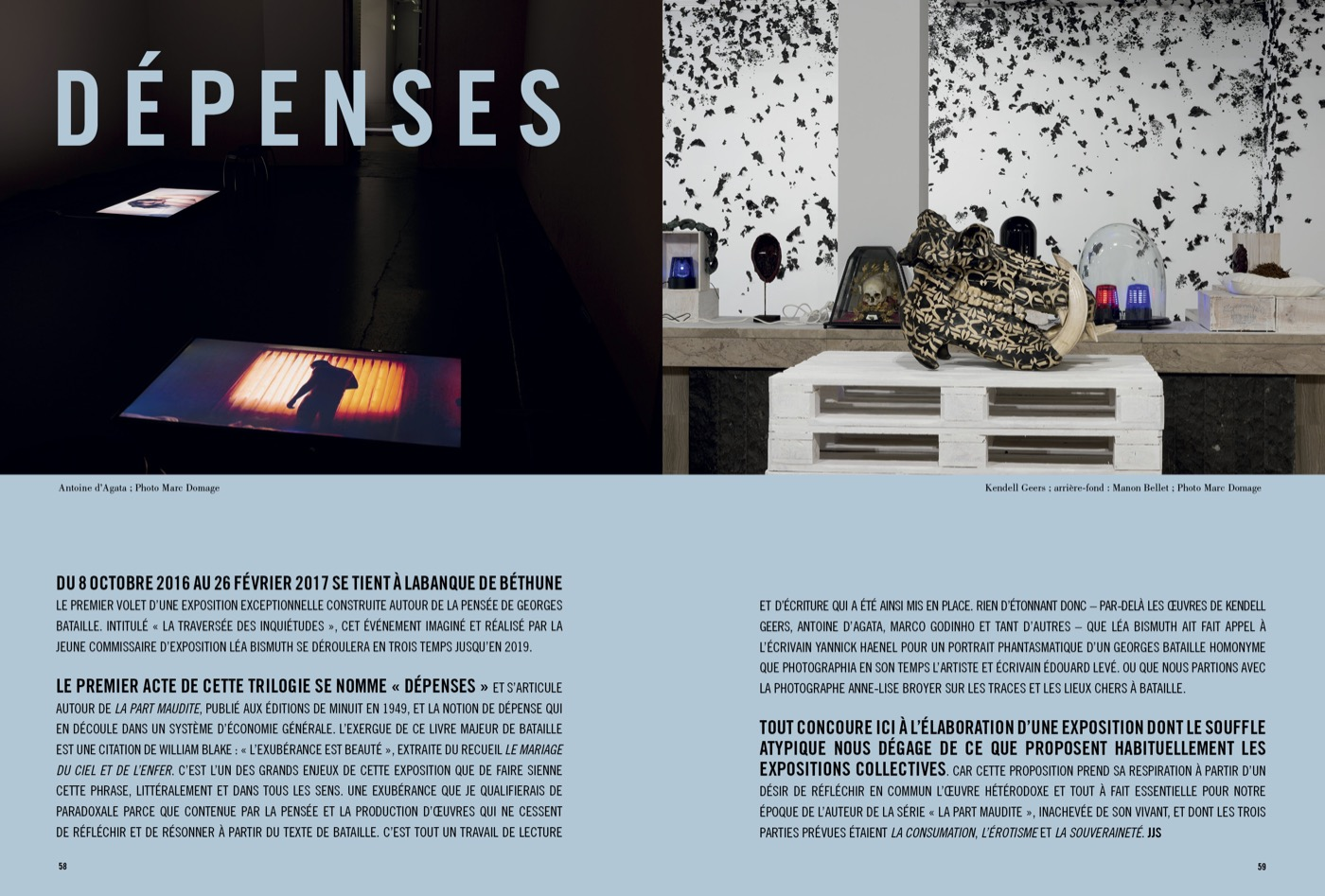 Exposition Dépenses à Labanque de Béthune, avec Léa Bismuth, Anne-lise Broyer et Yannick Haenel