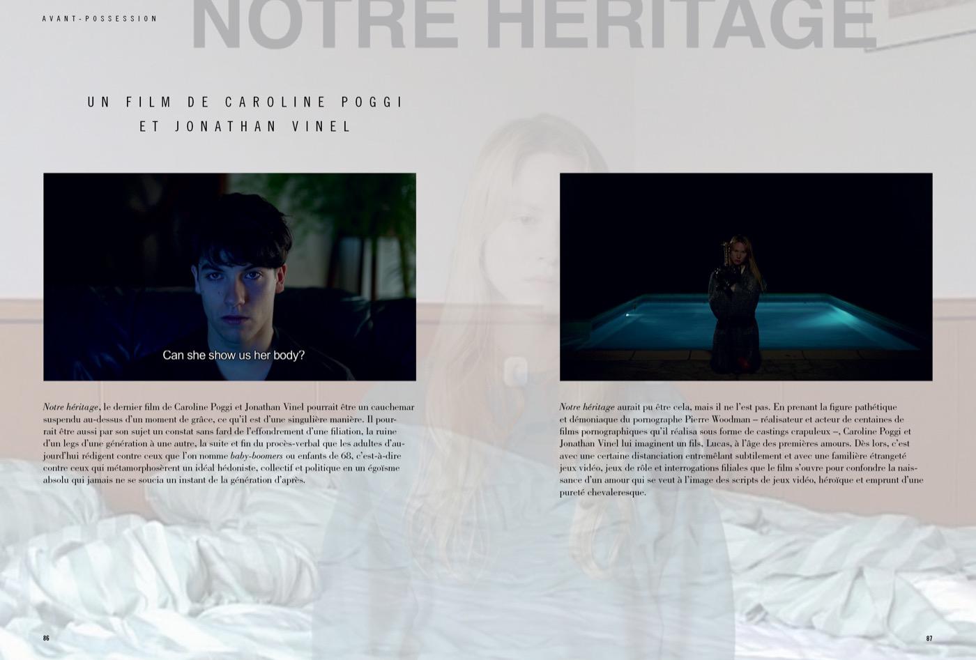 Présentation du film de Caroline Poggi et Jonathan Vinel, Notre Héritage