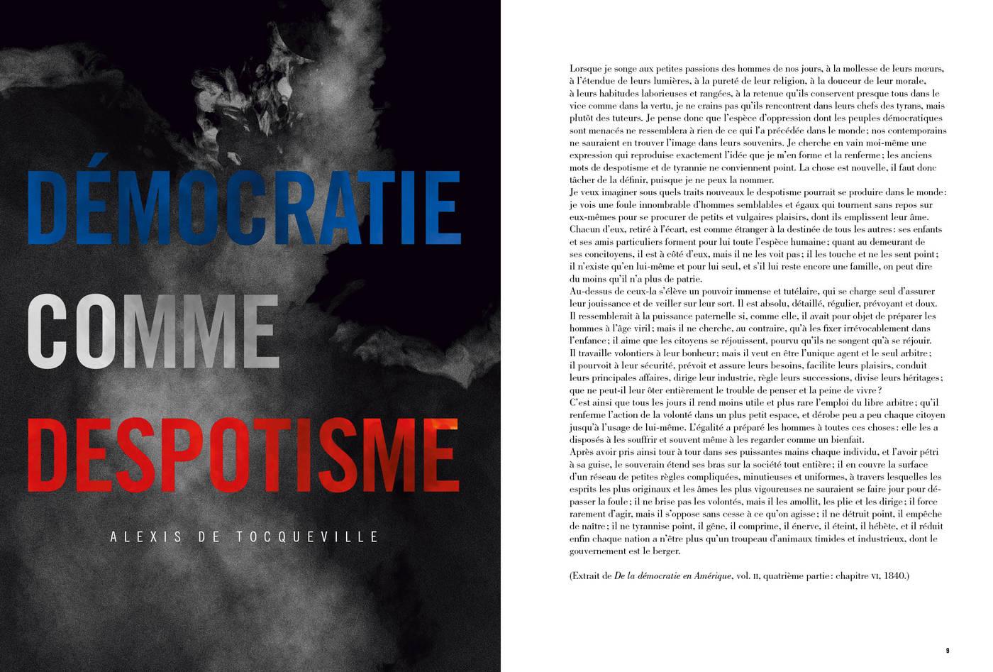 Texte d'Alexis de Tocqueville, Démocratie contre despotisme