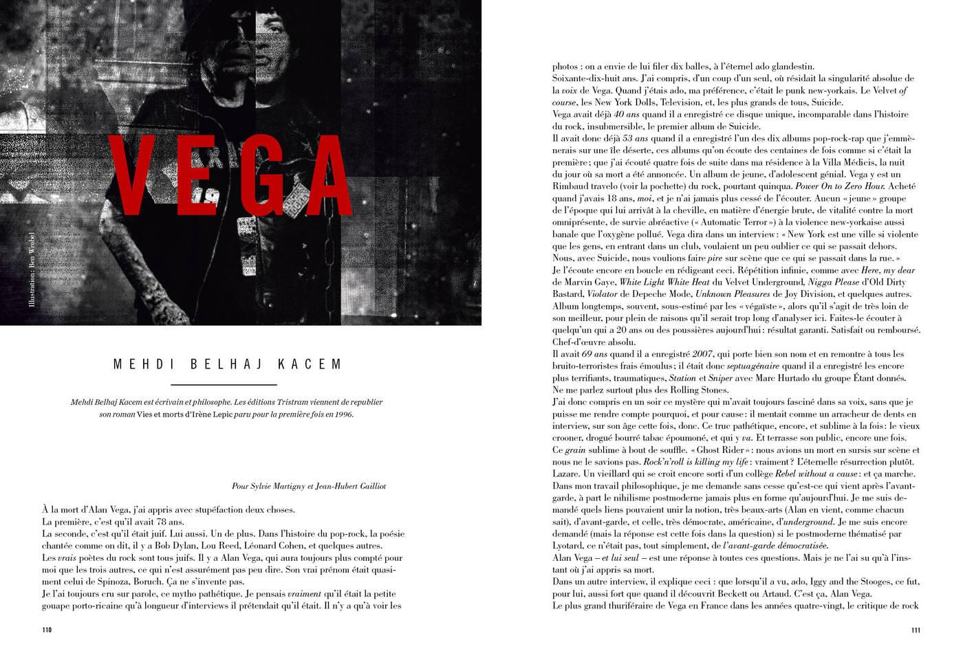 Texte de Mehdi Belhaj Kacem, Vega